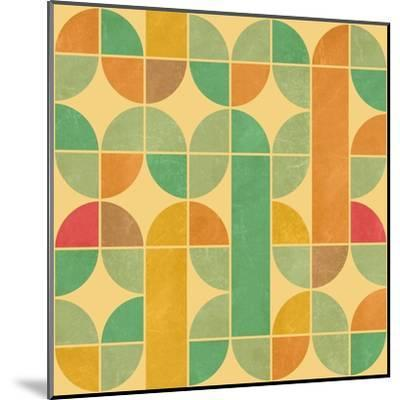 Retro Abstract Seamless Pattern With Seamless Texture-Heizel-Mounted Art Print
