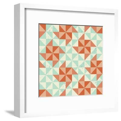 Seamless Geometric Pattern With Origami Elements-incomible-Framed Art Print