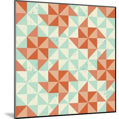 Seamless Geometric Pattern With Origami Elements-incomible-Mounted Art Print