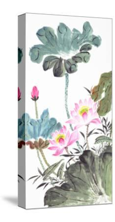 Abstract Lotus-Traditional Chinese Painting-aslysun-Stretched Canvas Print