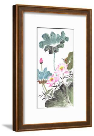 Abstract Lotus-Traditional Chinese Painting-aslysun-Framed Art Print