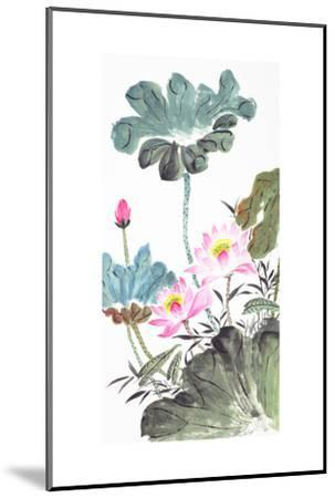 Abstract Lotus-Traditional Chinese Painting-aslysun-Mounted Art Print