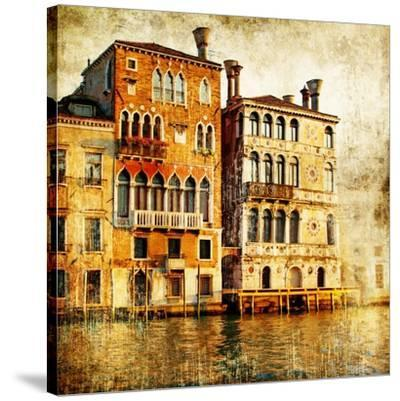 Traditional Venice - Artwork In Painting Style-Maugli-l-Stretched Canvas Print