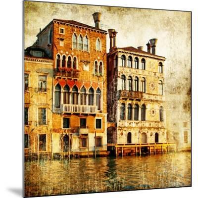 Traditional Venice - Artwork In Painting Style-Maugli-l-Mounted Premium Giclee Print