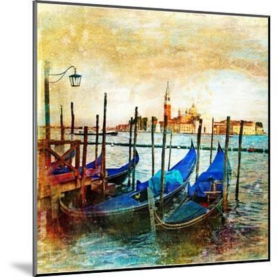 Mystery Of Venice - Artwork In Painting Style-Maugli-l-Mounted Art Print