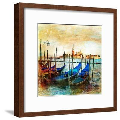 Mystery Of Venice - Artwork In Painting Style-Maugli-l-Framed Art Print