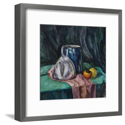 Still Life With Metal Teapot And Milk-Can-Solodkov-Framed Art Print