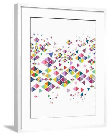 Trendy Hipster Geometric Pattern-cienpies-Framed Art Print
