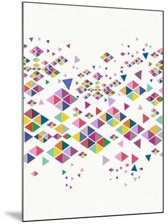 Trendy Hipster Geometric Pattern-cienpies-Mounted Art Print