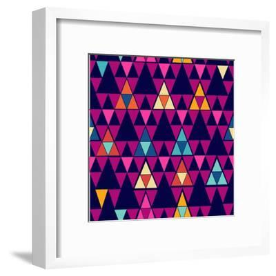 Trendy Hipster Geometric Pattern-cienpies-Framed Art Print