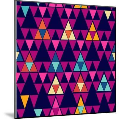 Trendy Hipster Geometric Pattern-cienpies-Mounted Art Print