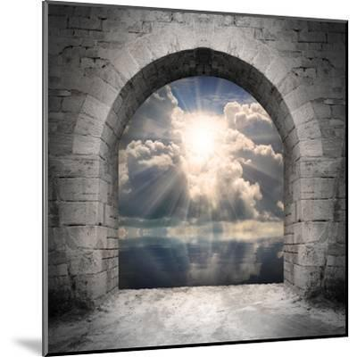Way To New World. New Life Concept - Light Over Water-Kletr-Mounted Art Print