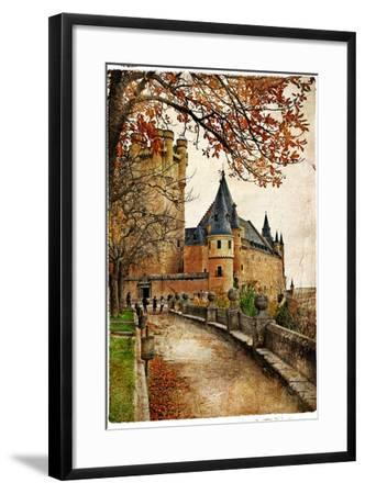 Alcazar Castle - Medieval Spain Painted Style Series-Maugli-l-Framed Art Print