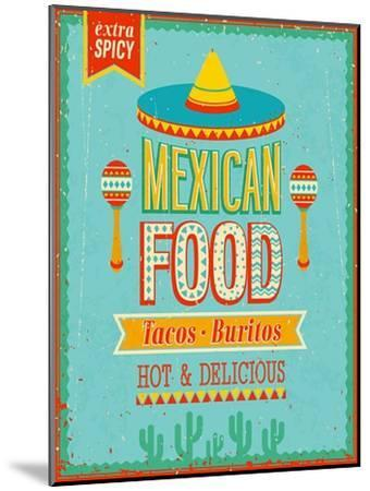 Vintage Mexican Food Poster-avean-Mounted Premium Giclee Print