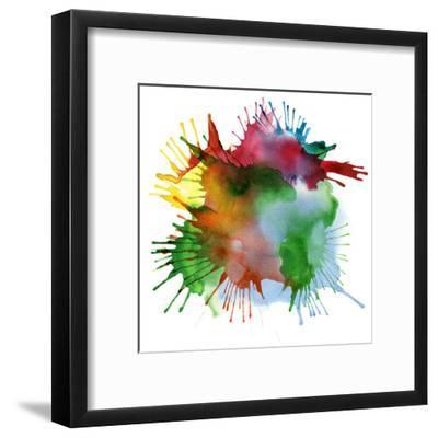 Abstract Color Watercolor Blot Background-Rudchenko Liliia-Framed Art Print