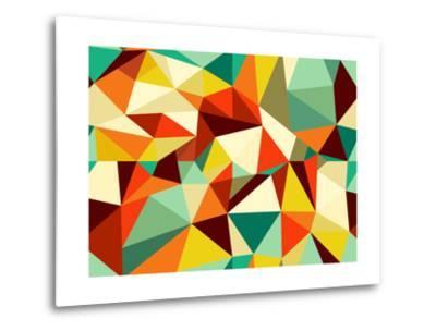Vintage Geometric Pattern-cienpies-Metal Print