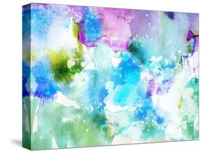 Vivid Abstract Ink Painting On Grunge Paper Texture-run4it-Stretched Canvas Print