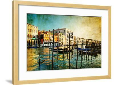 Amazing Venice - Artwork In Painting Style-Maugli-l-Framed Art Print