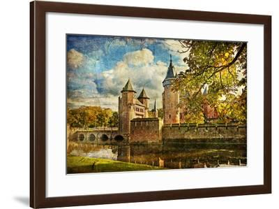 Autumn Castle - Artwork In Painting Style-Maugli-l-Framed Art Print