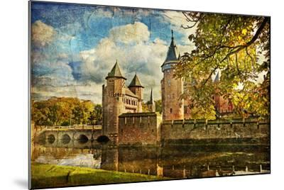 Autumn Castle - Artwork In Painting Style-Maugli-l-Mounted Art Print