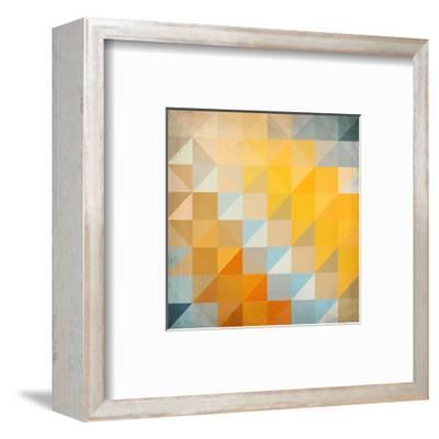 Abstract Triangles Geometry-art_of_sun-Framed Art Print