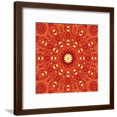 Square Decorative Design Element-epic44-Framed Art Print