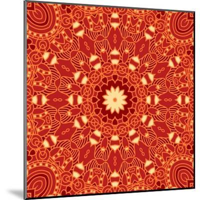 Square Decorative Design Element-epic44-Mounted Art Print