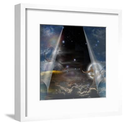 Veil Of Sky Pulled Open To Reveal Other-rolffimages-Framed Art Print