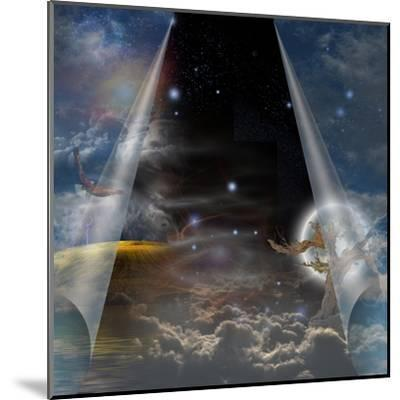 Veil Of Sky Pulled Open To Reveal Other-rolffimages-Mounted Art Print