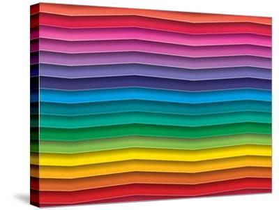 Colorful Background With Horizontal Wave Lines-maxmitzu-Stretched Canvas Print