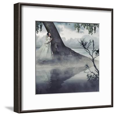 Fine Art Photo Of A Woman In Beauty Scenery-conrado-Framed Art Print