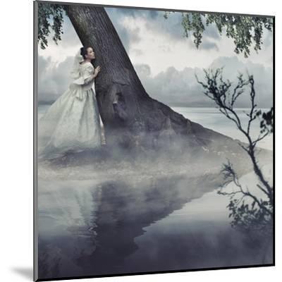 Fine Art Photo Of A Woman In Beauty Scenery-conrado-Mounted Art Print
