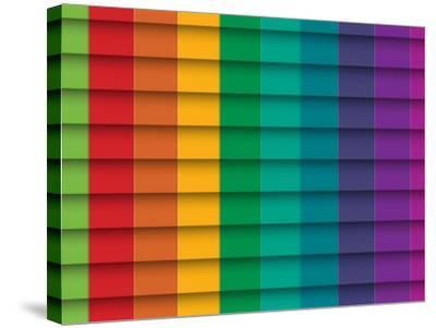 Colorful Background With Horizontal Lines-maxmitzu-Stretched Canvas Print