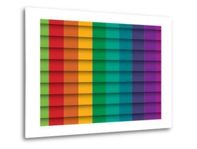 Colorful Background With Horizontal Lines-maxmitzu-Metal Print