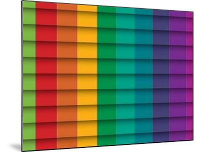 Colorful Background With Horizontal Lines-maxmitzu-Mounted Art Print