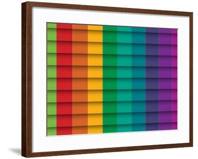 Colorful Background With Horizontal Lines-maxmitzu-Framed Art Print