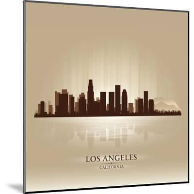 Los Angeles, California Skyline City Silhouette-Yurkaimmortal-Mounted Art Print