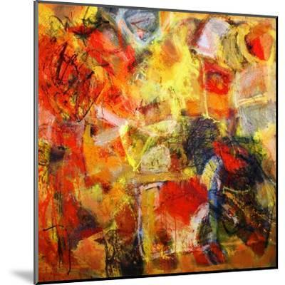 Mixed Technics, Expression Abstract Painting-dpaint-Mounted Art Print