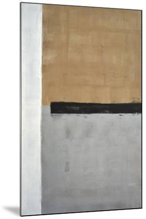 Grey And Brown Abstract Art Painting-T30Gallery-Mounted Art Print