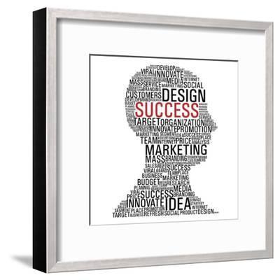 Marketing Success Head Communication-cienpies-Framed Art Print