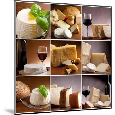 Collection Of Italian Cheese And Wine-Marco Mayer-Mounted Art Print