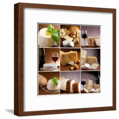 Collection Of Italian Cheese And Wine-Marco Mayer-Framed Art Print