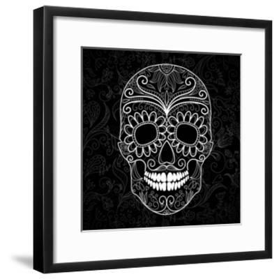 Day Of The Dead Black And White Skull Art Print By Alisa Foytik