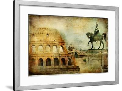 Great Rome - Artwork In Painting Style-Maugli-l-Framed Art Print