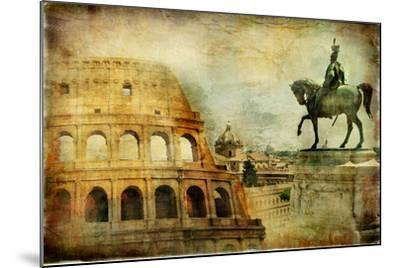 Great Rome - Artwork In Painting Style-Maugli-l-Mounted Art Print