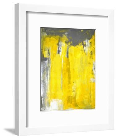 Grey And Yellow Abstract Art Painting Art Print By T30gallery Artcom