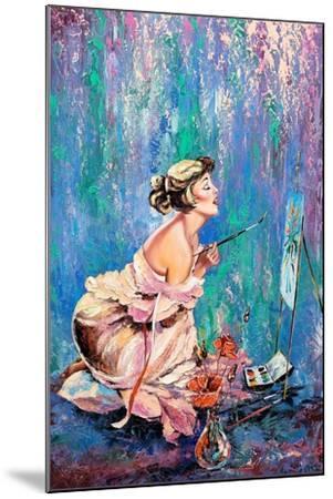 The Beautiful Girl Drawing A Picture-balaikin2009-Mounted Art Print
