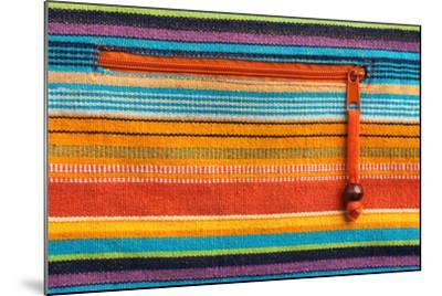 Colorful Fabric Texture With Zipper-Ultrapro-Mounted Art Print