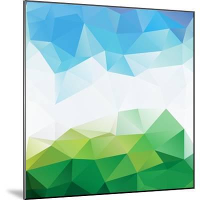 Colorful Mosaic Triangle Background-Rasveta-Mounted Premium Giclee Print