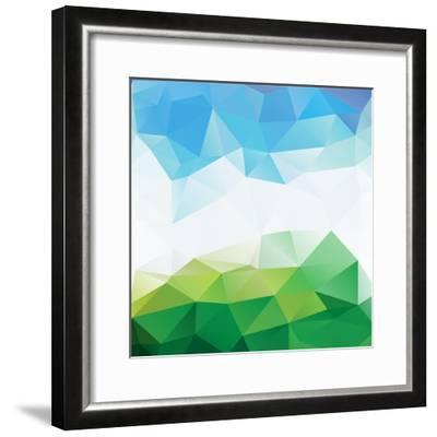 Colorful Mosaic Triangle Background-Rasveta-Framed Premium Giclee Print